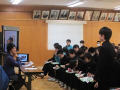 榎本庄太の笹神中学校での職業講話